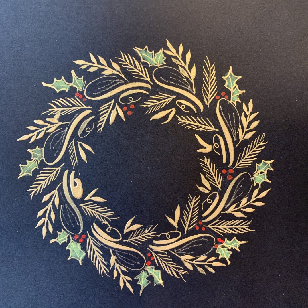 Flourished Holiday Wreath